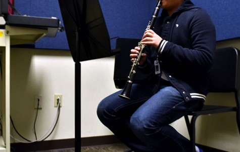 Nathan plays clarinet in Allen's top band, the Wind Ensemble.