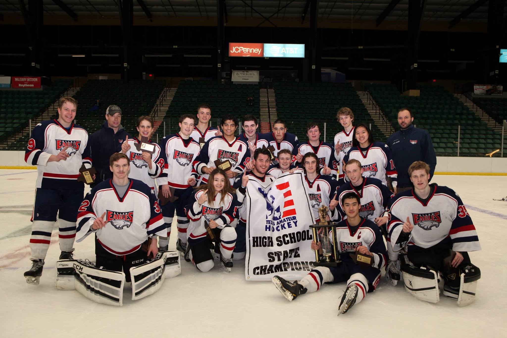 Photo courtesy of the Allen Eagle Hockey Club